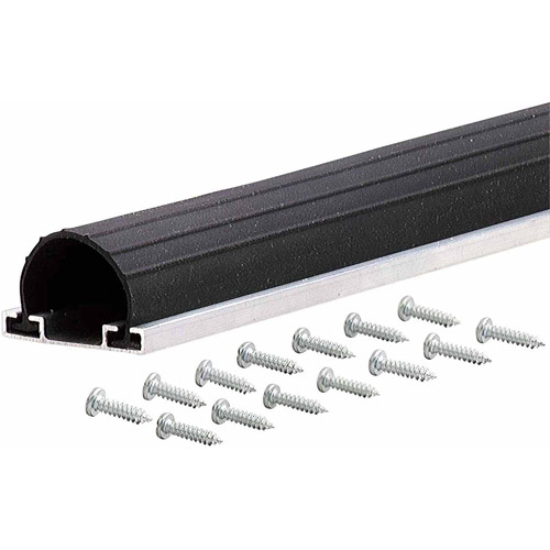 M-D Products 87668 18' Black Universal Aluminum and Rubber Garage Door Bottom