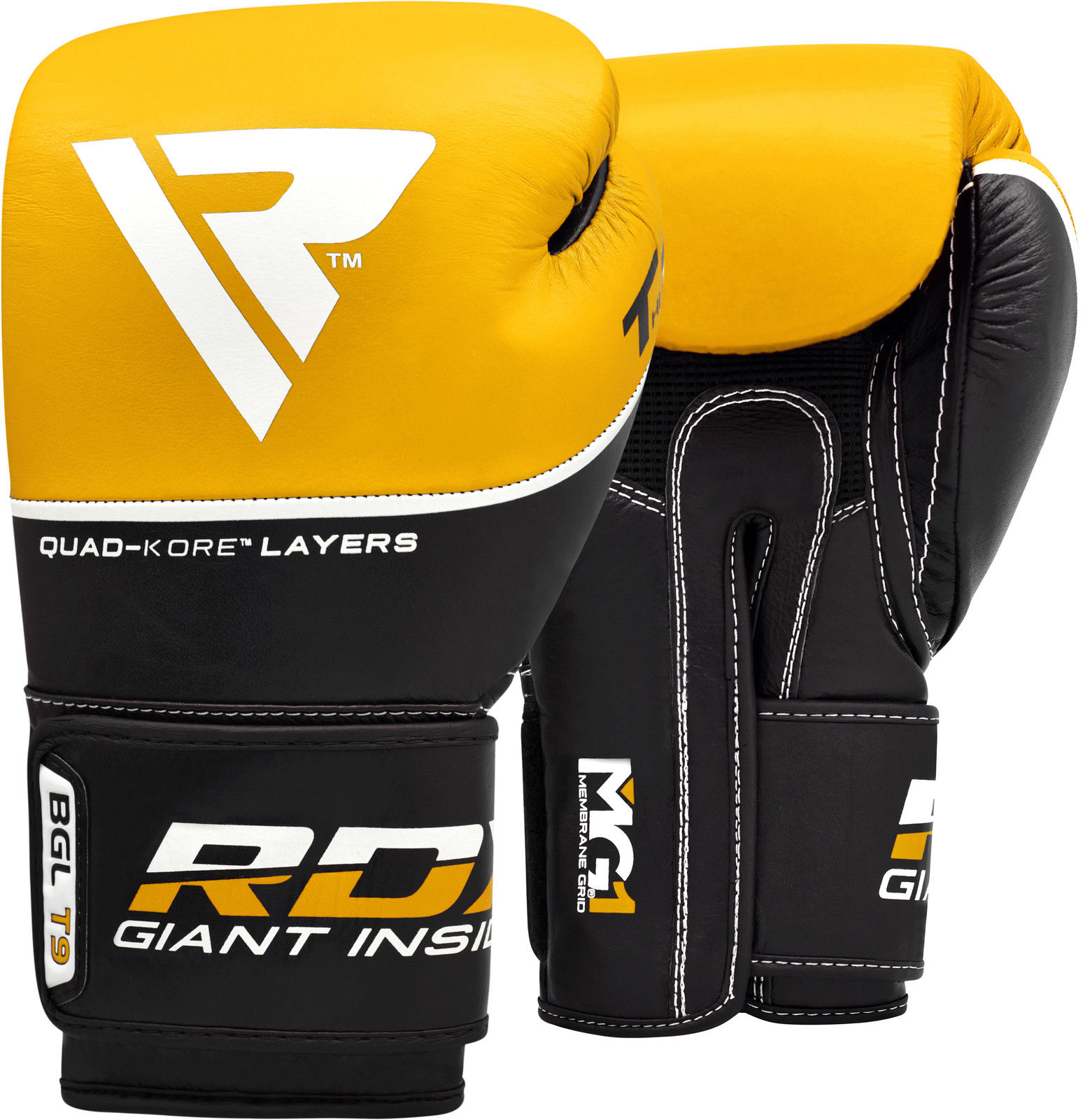 RDX Boxing Gloves Genuine Cowhide Leather, 12oz, Blue