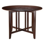 Winsome Wood Alamo Double Drop Leaf Dining Table, Walnut Finish