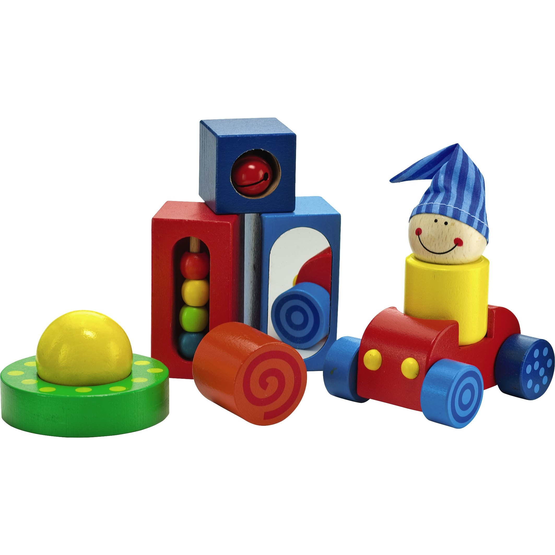 HABA Play Shapes 8 Piece First Building Block Set for Ages 12 Months and Up by HABA