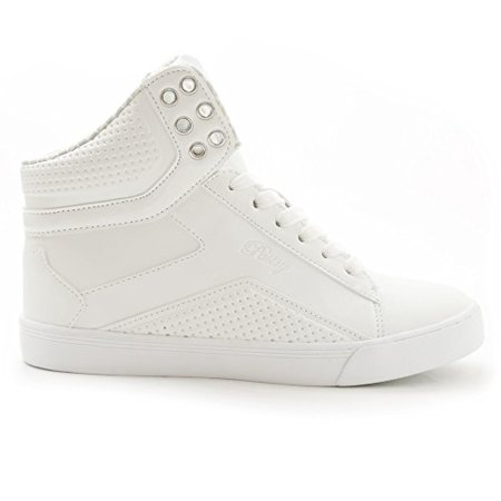 Pastry Pop Tart Grid Girls High-Top Sneaker & Dance Shoe With Glossy Accents - Pastry High Tops