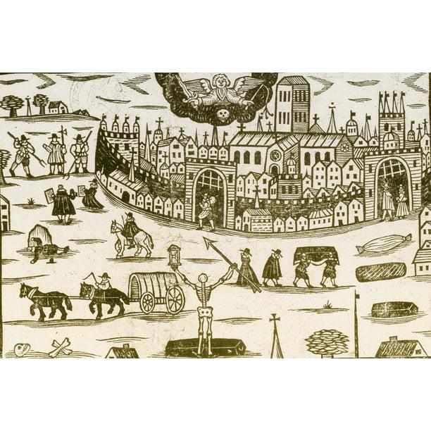 Black Death Medieval Bubonic Plague Poster Print by ...