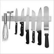Modern Innovations 16 Inch Stainless Steel Magnetic Knife Bar with Multipurpose Use as Knife Holder, Knife Rack, Knife Strip, Kitchen Utensil Holder, Tool Holder, Art Supply Organizer &amp