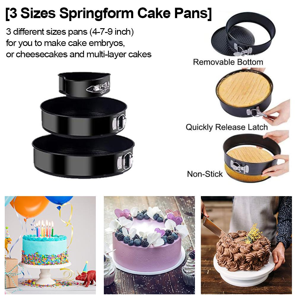 Details about  /Three-tiered Cake Pan Pudding Mold Muffin Baking Decorating Kitchen Tools DIY
