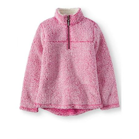 Sherpa Quarter Zip Pullover (Little Girls & Big Girls)