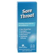 NatraBio Sore Throat Spray, 1 Fl Oz