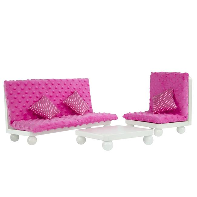 Corp TD-11930A-B Little Princess Doll Furniture - Pink Lounge Set, 18 in.