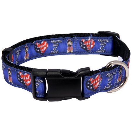 Country Brook Design  Deluxe 4Th Of July Ribbon Dog Collar