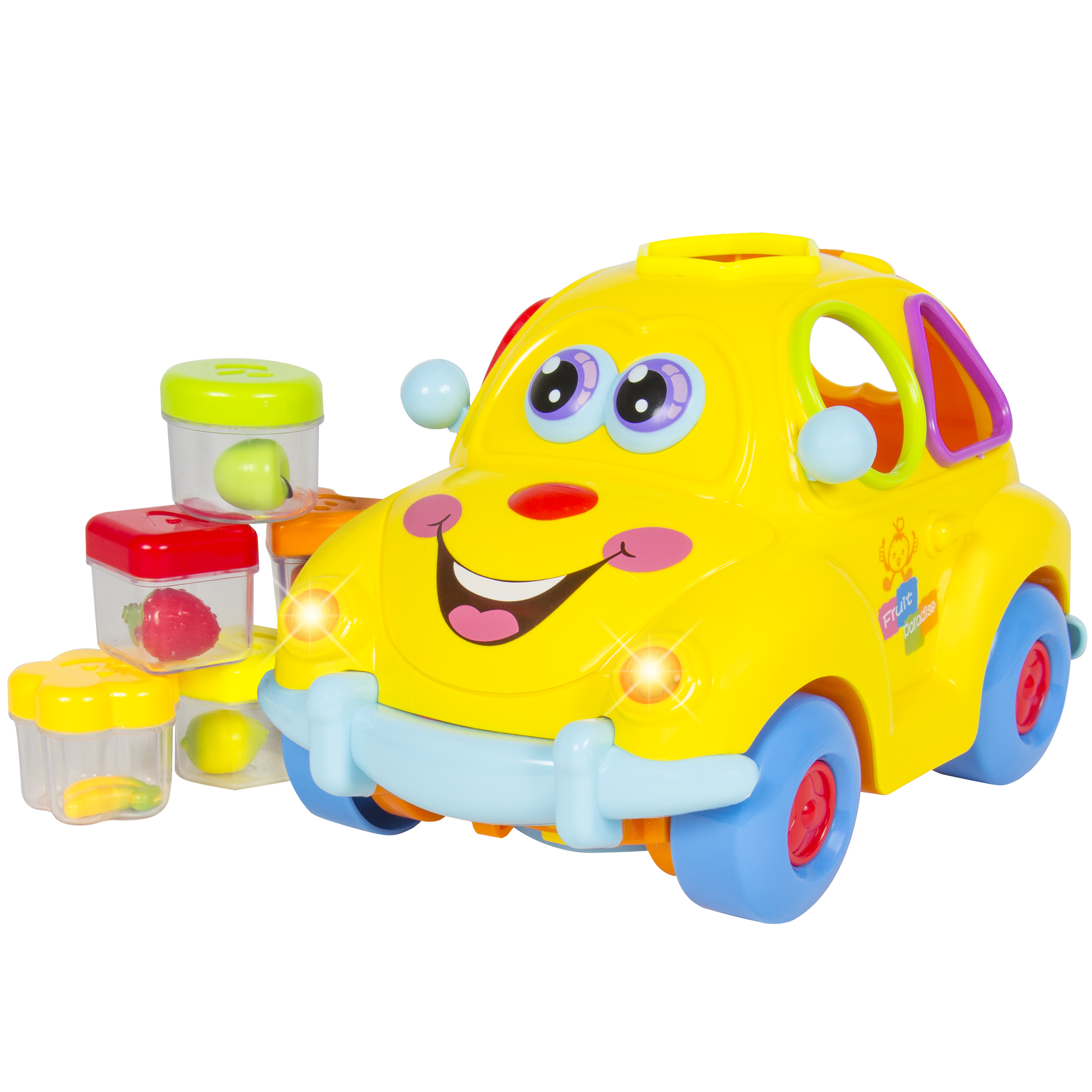 Best Choice Products Electric Toy Car w/ Flashing Front & Back Lights and Music, Bump'n'Go, Shape Sorter
