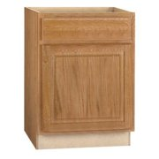 RSI HOME PRODUCTS HAMILTON BASE CABINET, FULLY ASSEMBLED, RAISED PANEL, OAK, 24X34-1/2X24 IN.