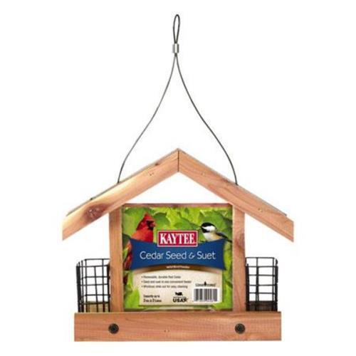 Kaytee Cedar Suet and Seed Feeder