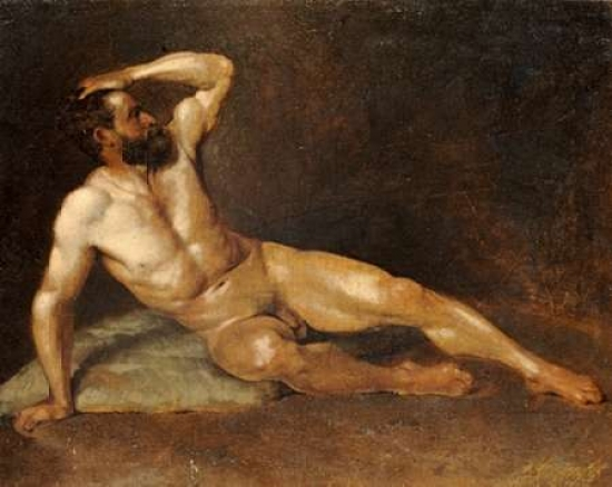 That interestingly Reclining male nude