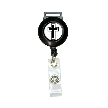 Cross - Christian Religious Retractable Badge Card ID Holder (Christian Lanyards)