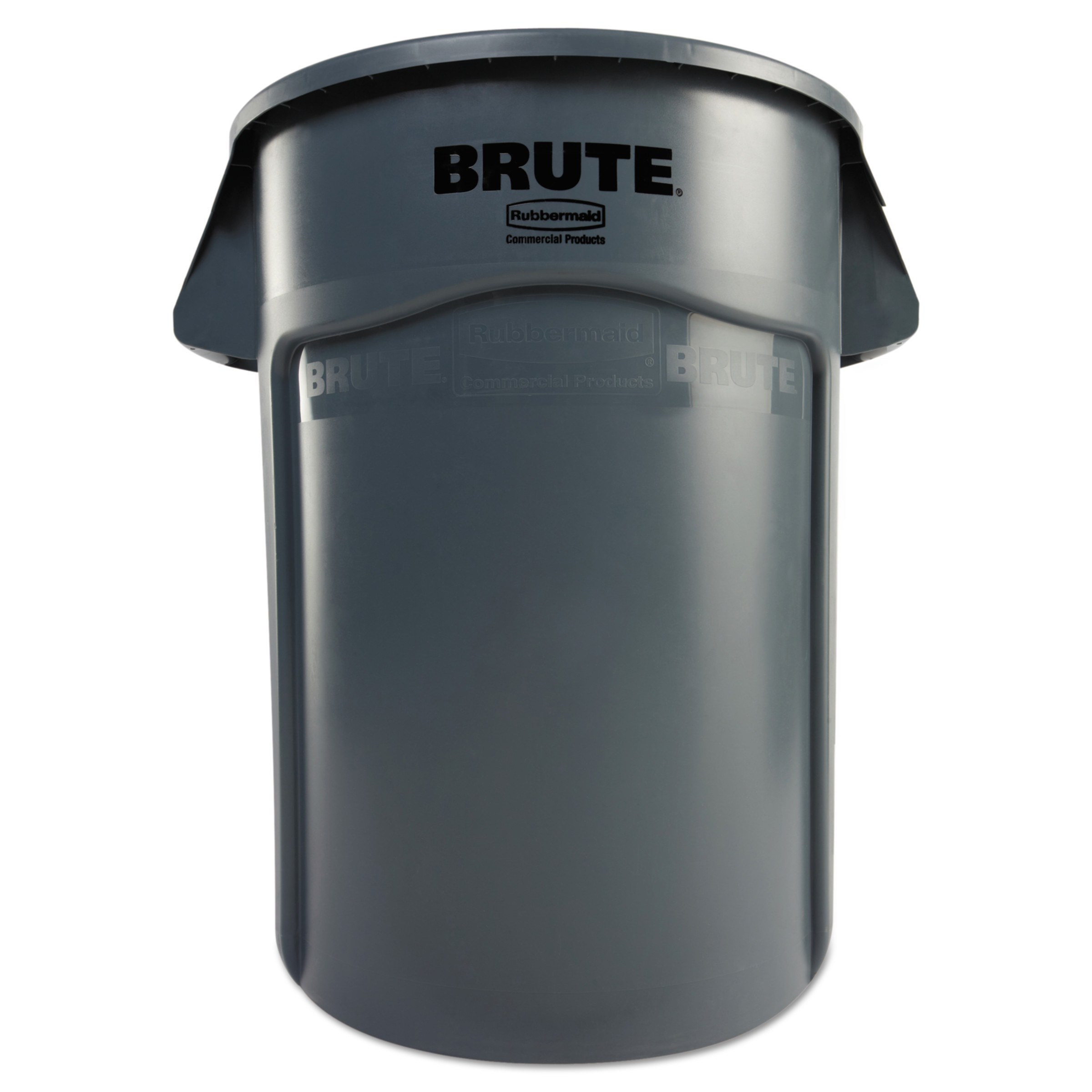 Rubbermaid Commercial Brute Vented Trash Receptacle, Round, 44 gal, Gray by RUBBERMAID COMMERCIAL PROD.