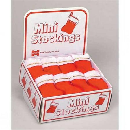Halco 1006-72 6 Mini Stocking - Red items come in a plain - Mini In A Box