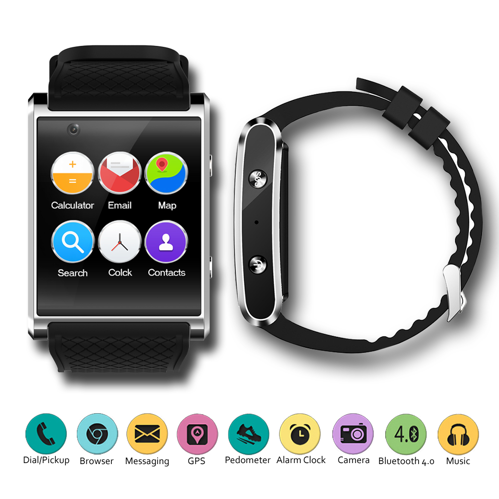 "3G Android 5.1 SmartWatch by Indigi® - 1.54"" AMOLED Display - QuadCore CPU - GPS - WiFi (GSM Unlocked)"