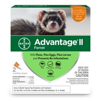 Advantage II Flea Prevention for Ferrets, 2 Monthly Treatments