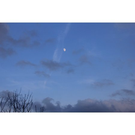 LAMINATED POSTER Sky Dusk Moonlight Evening Night Moon Clouds Poster Print 24 x