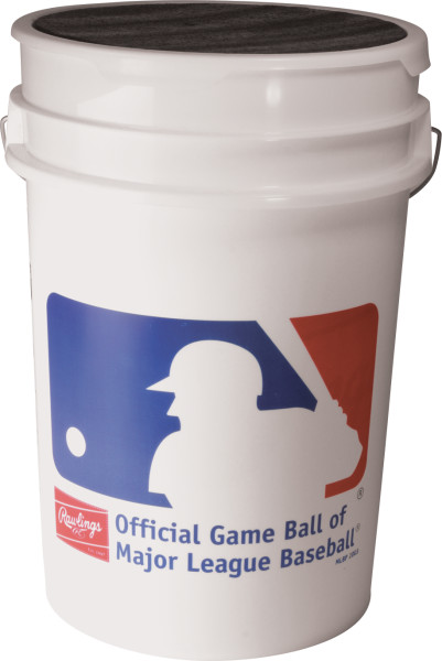 Rawlings 6 Gallon ROLB1X Practice Baseball Bucket Combo by Rawlings
