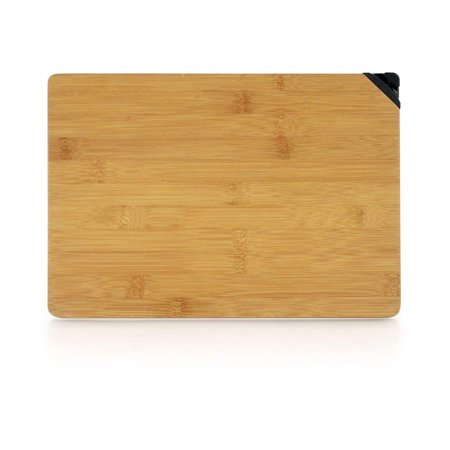 Large 2 in1 Bamboo Wood Cutting Board with Knife Sharpener Antibacterial NEW CRACK FREE Design Thick, Non-Slip Laminated Layers BPA Free, Larger Thicker Board, Easy Grip Handle Low Price