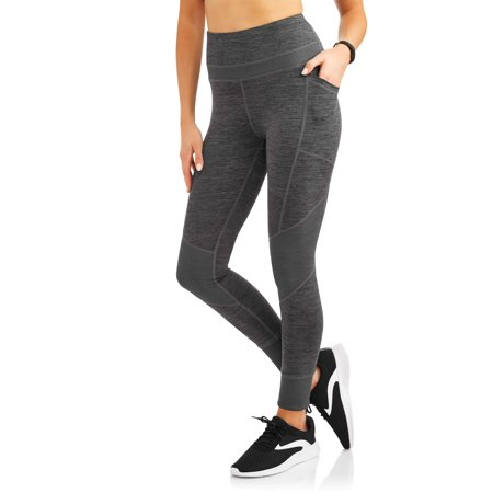 4fd5173a71 Avia - Women's Active Performance Mix Ribbed Performance Crop Legging with  Media Pocket - Walmart.com