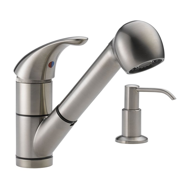 peerless choice p18550lf single handle pull out kitchen peerless single handle kitchen pull out faucet price