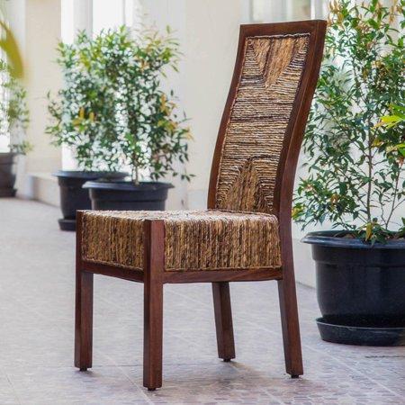 International Caravan Bali Dallas Woven Abaca Dining Side Chair - Patio furniture dallas 2