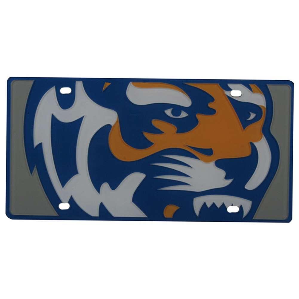 Memphis Tigers Full Color Mega Inlay License Plate