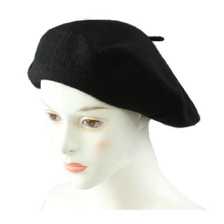 Thzy Ladies Wool Mix French Beret Hat Warm Winter Hat Ladies Girls Beret Hat