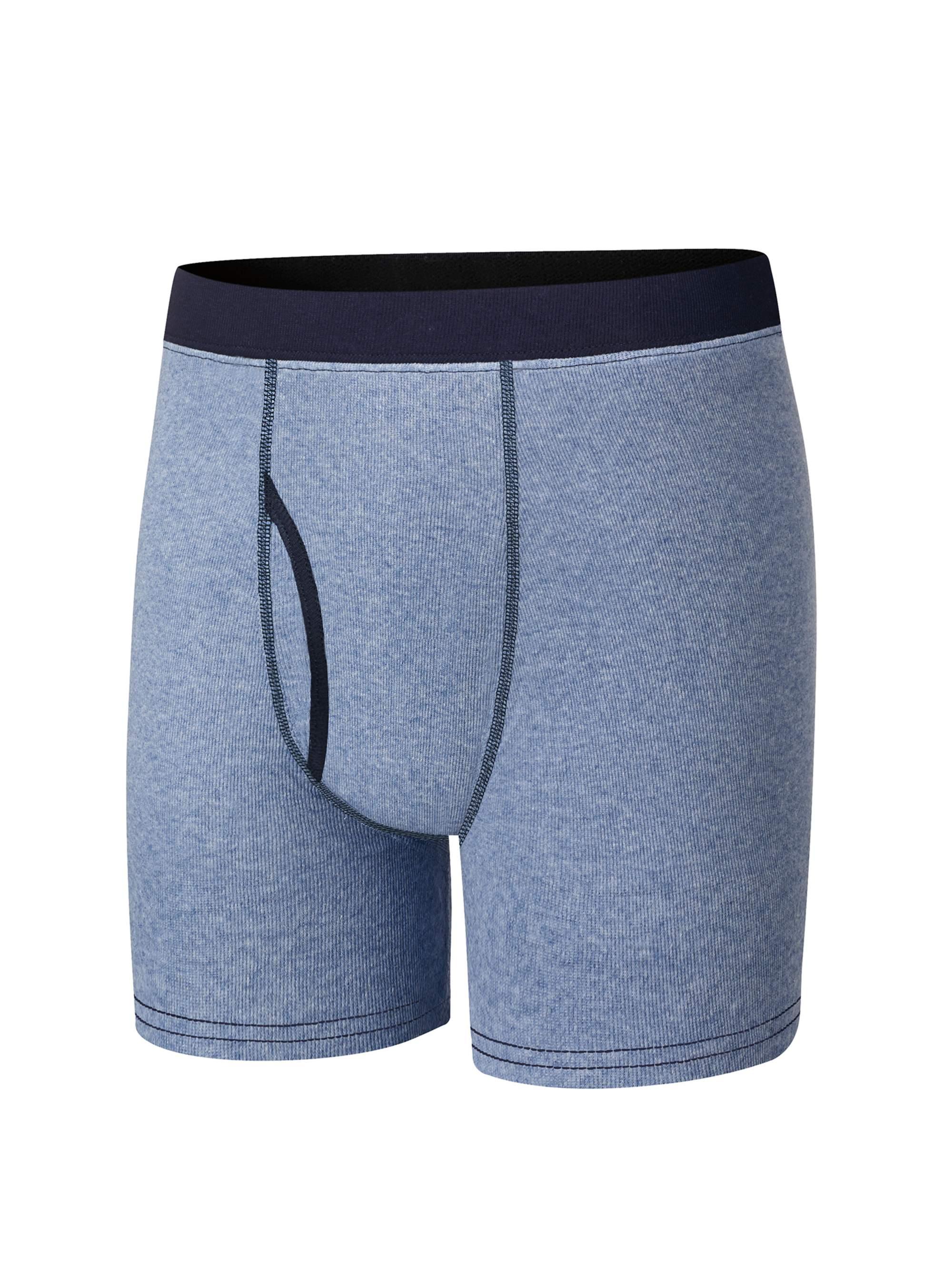 Hanes Boys 100% Cotton Boxer Briefs, 3 Pack