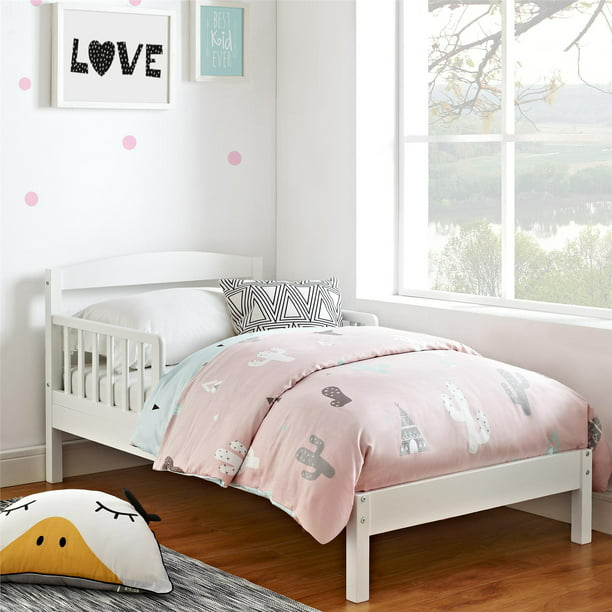 Baby Relax Jackson Toddler Bed, Kids Bedroom Furniture, White Wood
