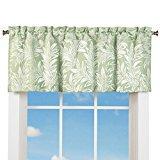 Elegant Window Valance Curtain w/ Rod Pocket Top & Leaf Design, Sage for $<!---->