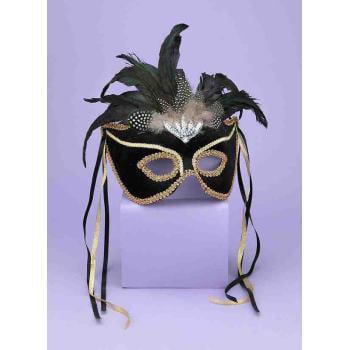 Assorted Sequin Masks (MASK 1/2-KARNEVAL STYLE-BLACK)