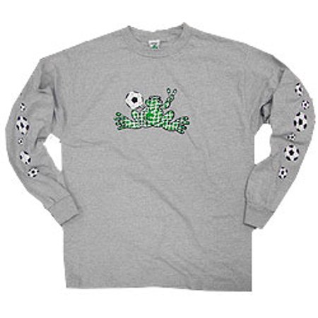 Peace Frogs Adult Granite Soccer Net Long Sleeve T-Shirt