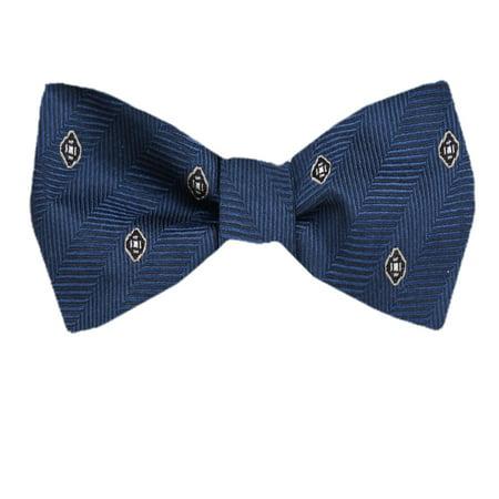 Men's Blue and Navy Silk Pattern Self Tie Bowtie Tie Yourself Bow Ties Diamond Patterned Silk Tie