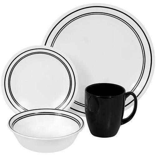 Dinnerware 1055449 Corelle Livingware 16-pc Classic, Black