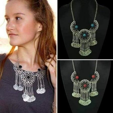 Hot Fashion Jewelry Crystal Chunky Statement Bib Pendant Chain Choker Necklace Crystal Bib Statement Necklace