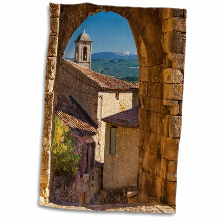 French Gate (3dRose Stone gate, Lacoste, Mt Ventoux, Provence, France - EU09 BJN0066 - Brian Jannsen - Towel, 15 by 22-inch )