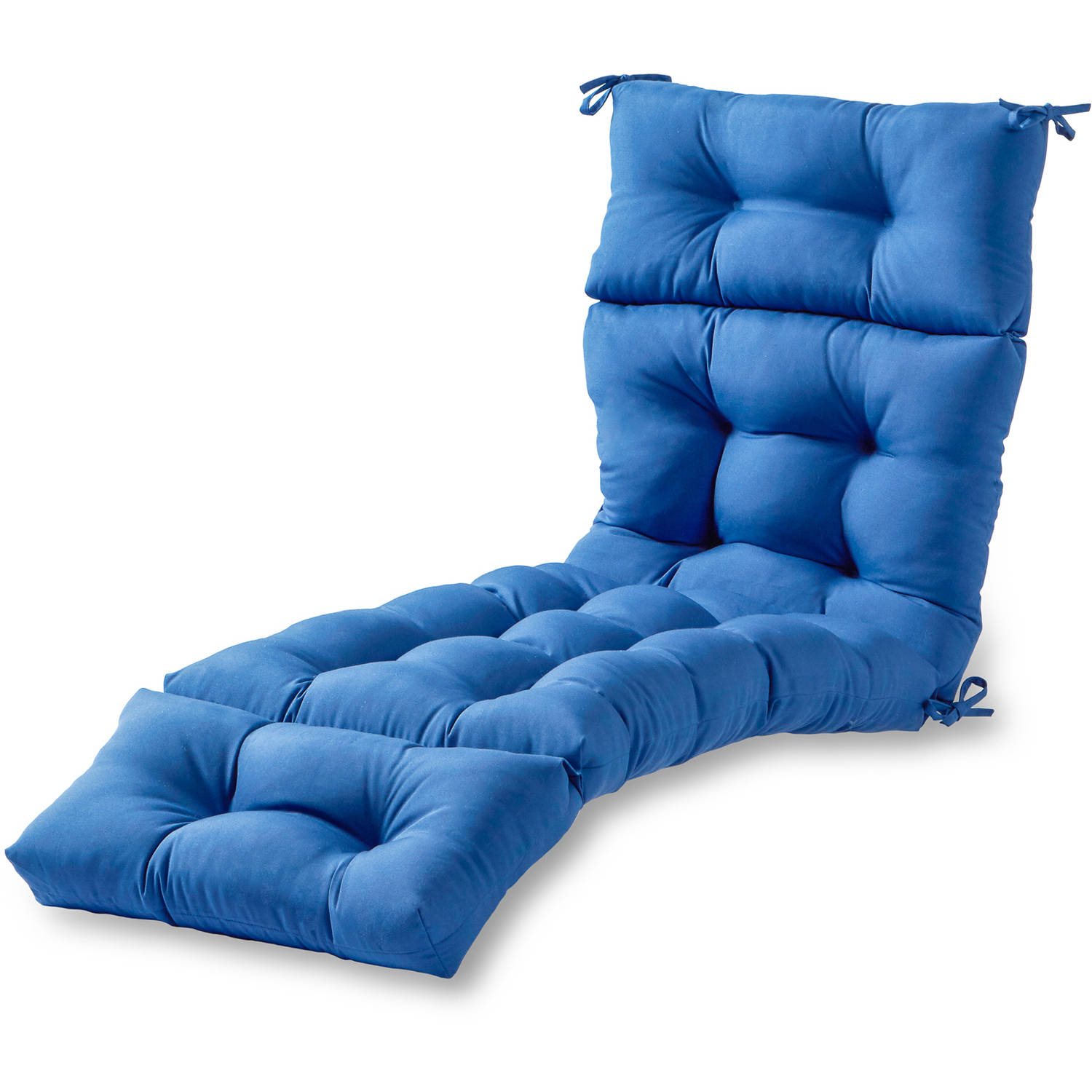 "Greendale Home Fashions 72"" Outdoor Chaise Lounger Cushion, Marine Blue"