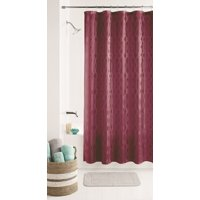 Mainstays Geo Jacquard Shower Curtain