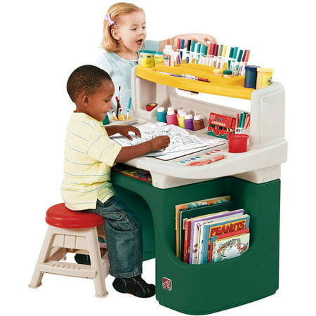 Step2 Art Master Desk Includes a Sturdy 11 inch Stool (Kid Art Easel)
