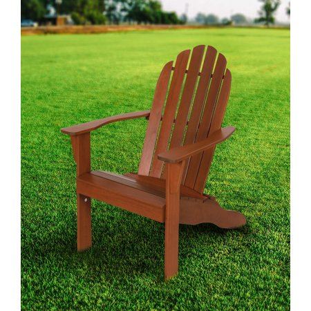 Mainstays Wood Outdoor Adirondack Chair, Brown