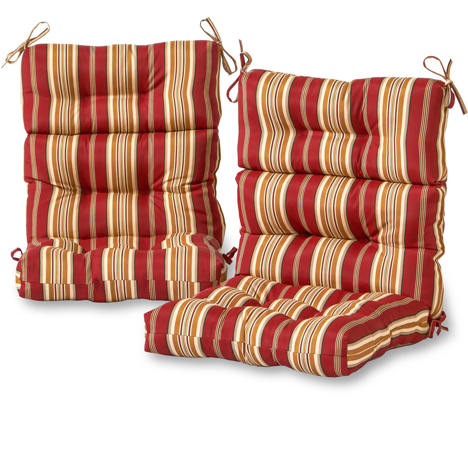 Greendale Home Fashions Roma Stripe Outdoor High Back Chair Cushion, Set of 2 by Greendale Home Fashions