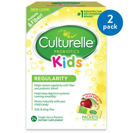 (2 Pack) Culturelle Kids Regularity Gentle-Go Formula Dietary Supplement Packets, 24 count (Infant Formula Probiotic)