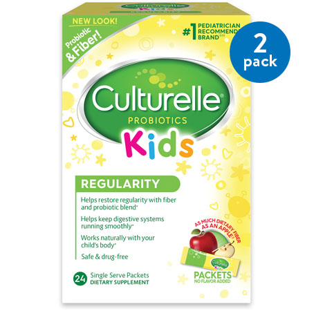 (2 Pack) Culturelle Kids Regularity Gentle-Go Formula Dietary Supplement Packets, 24 count