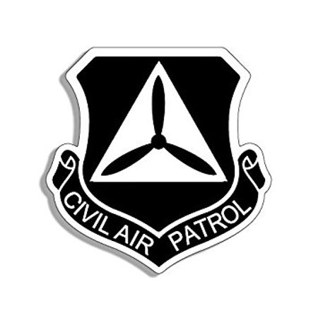 BLACK Civil Air Patrol Shield Shaped Sticker Decal (cap crest logo insignia) Size: 4 x 4 inch](Graduation Cap Decals)