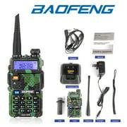 Leadzm Baofeng UV-5R Green UHF VHF Dual Band Two Way Ham Radio Walkie Talkie