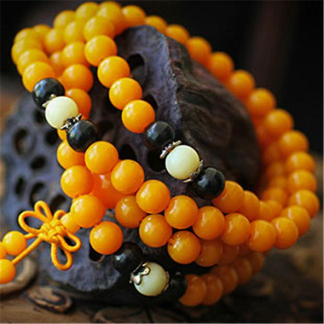Merit 16614 Hippopotamus Teeth Beeswax Beads Bracelet
