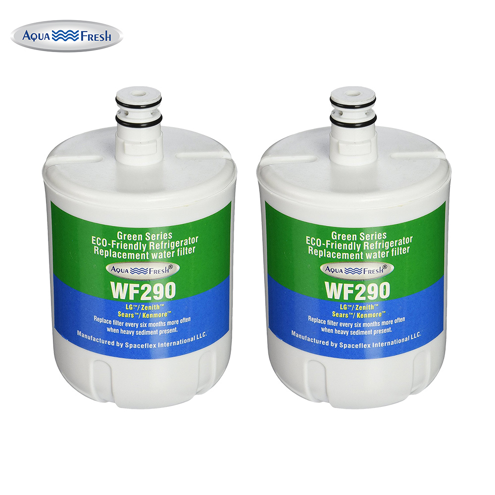 Replacement Aqua Fresh WF290 Refrigerator Water Filter For LG 5231JA2002A & Kenmore 9890 (2 Pack)