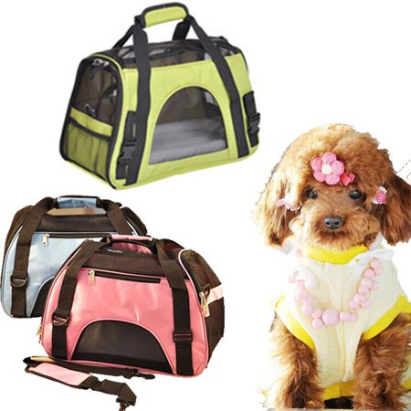 Zimtown Nylon & Mesh Pet Carrier Portable Breathable Kennel Crate Cage Waterproof Pet Handbag Size S